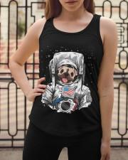 Frenchie Astronaut Suit Ladies Flowy Tank apparel-ladies-flowy-tank-lifestyle-04