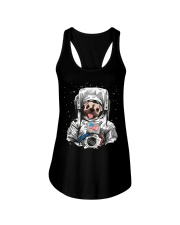 Frenchie Astronaut Suit Ladies Flowy Tank thumbnail