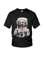 Frenchie Astronaut Suit Youth T-Shirt front