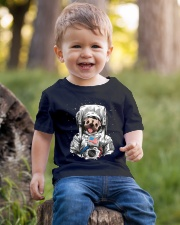 Frenchie Astronaut Suit Youth T-Shirt lifestyle-youth-tshirt-front-4