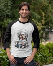 Frenchie Astronaut Suit Baseball Tee apparel-baseball-tee-lifestyle05