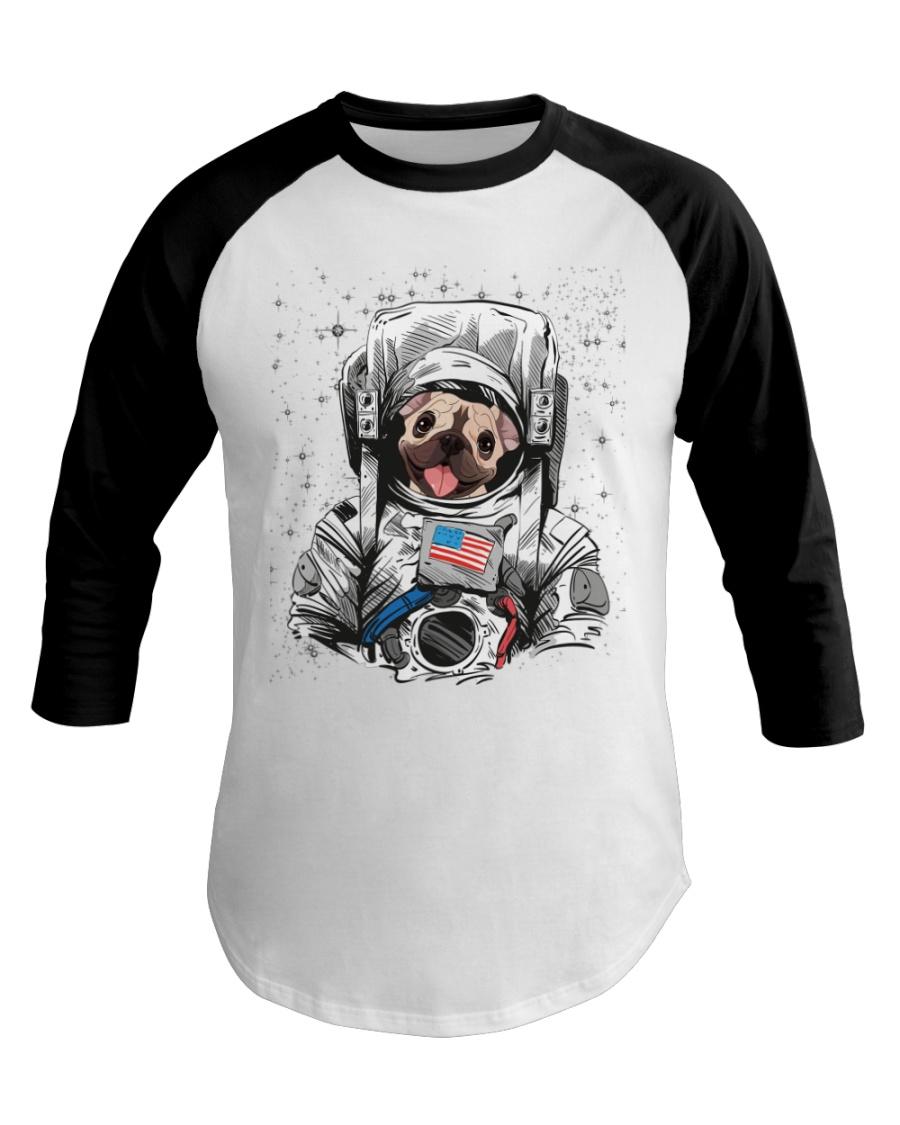 Frenchie Astronaut Suit Baseball Tee
