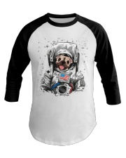 Frenchie Astronaut Suit Baseball Tee thumbnail