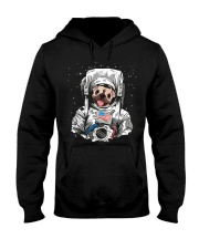 Frenchie Astronaut Suit Hooded Sweatshirt thumbnail