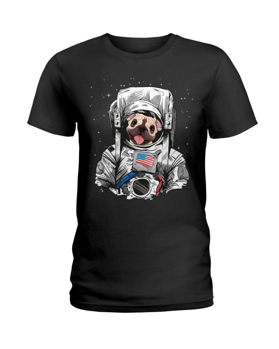 Frenchie Astronaut Suit Ladies T-Shirt