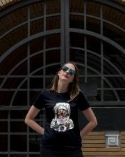 Frenchie Astronaut Suit Ladies T-Shirt lifestyle-women-crewneck-front-1