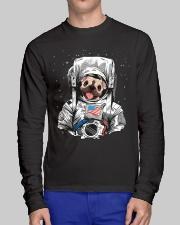 Frenchie Astronaut Suit Long Sleeve Tee lifestyle-unisex-longsleeve-front-1
