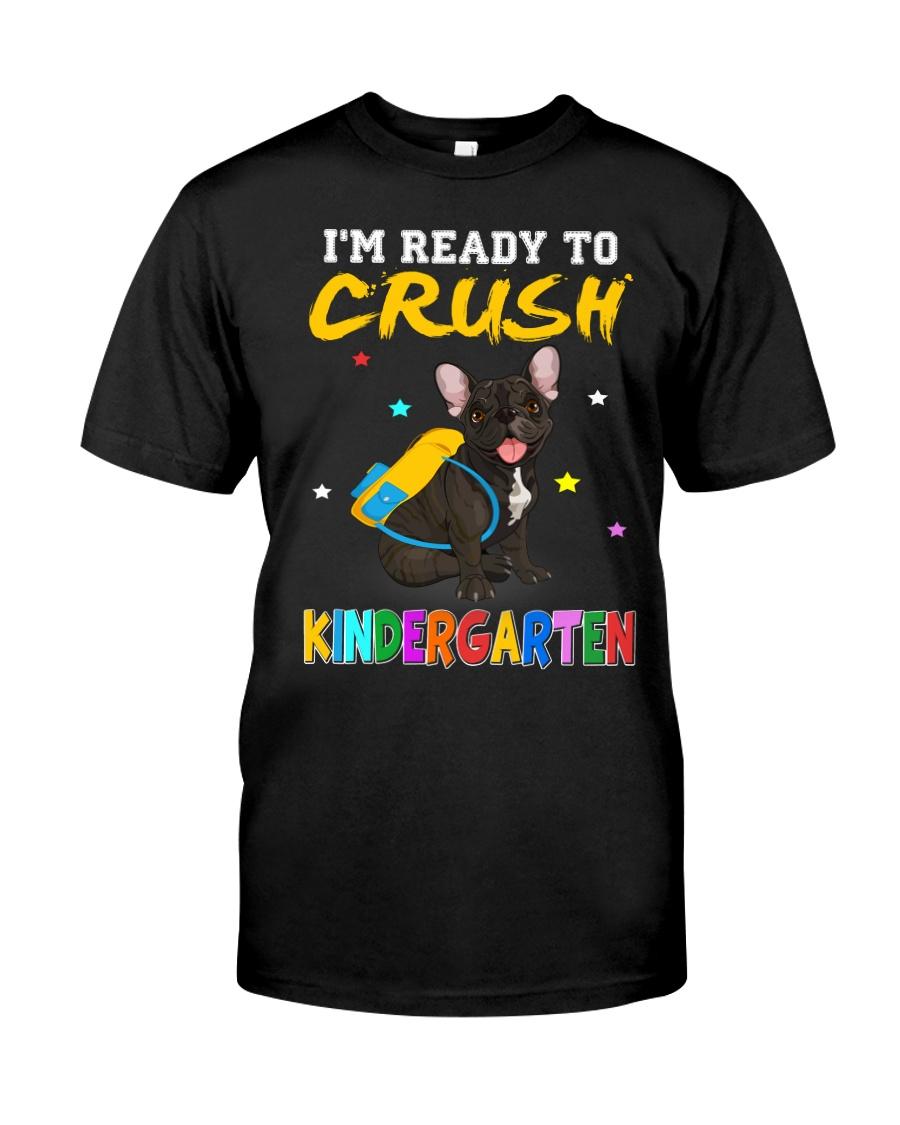 French Bulldog Crush Kindergarten T Shirt Premium Fit Mens Tee