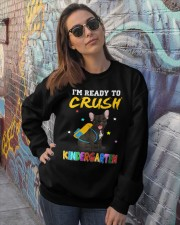 French Bulldog Crush Kindergarten T Shirt Crewneck Sweatshirt lifestyle-unisex-sweatshirt-front-3