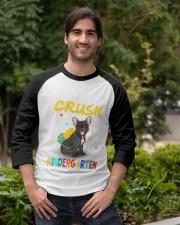 French Bulldog Crush Kindergarten T Shirt Baseball Tee apparel-baseball-tee-lifestyle05