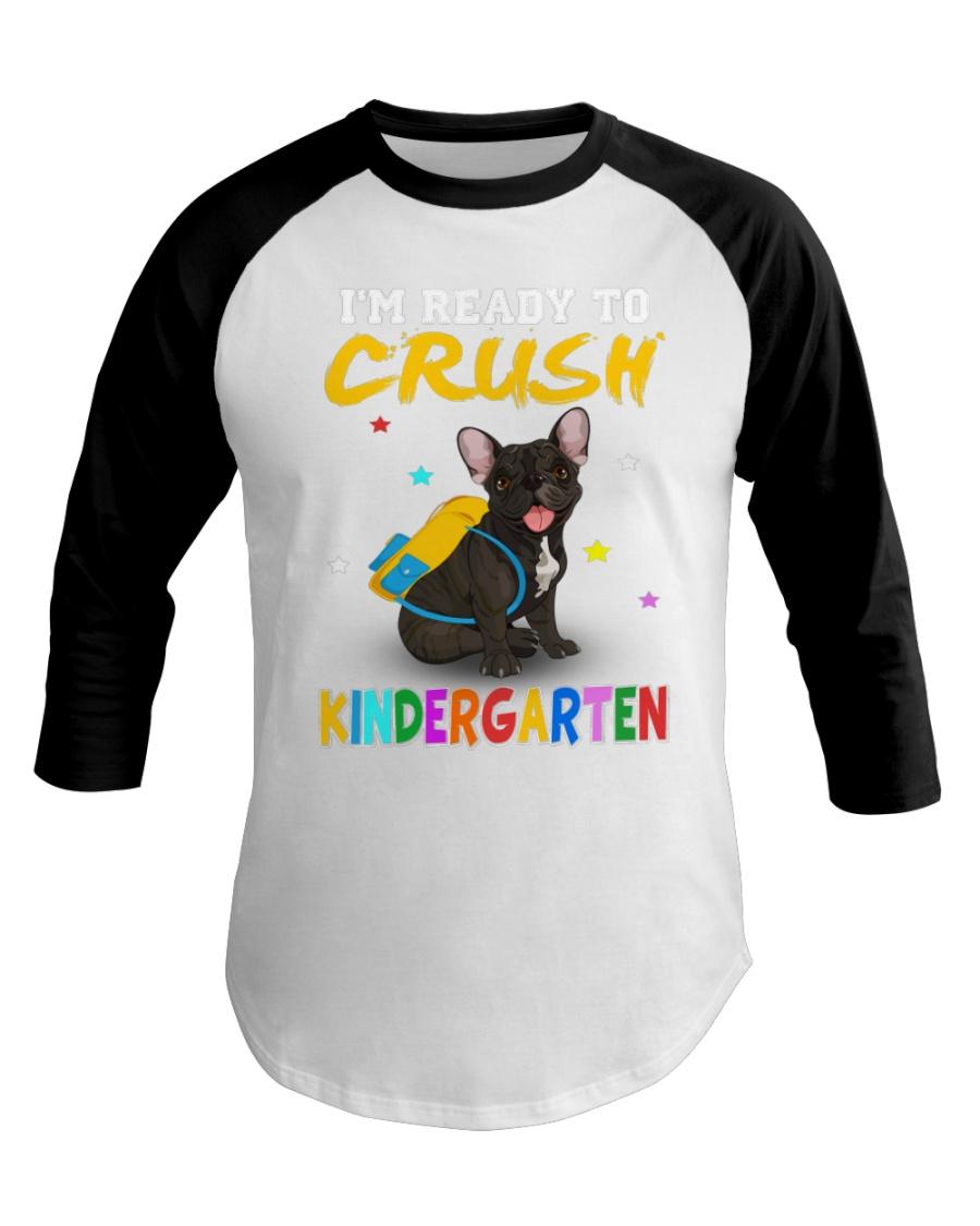 French Bulldog Crush Kindergarten T Shirt Baseball Tee