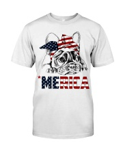 Frenchie Dog USA Flag Headband Gift Classic T-Shirt thumbnail