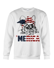 Frenchie Dog USA Flag Headband Gift Crewneck Sweatshirt thumbnail