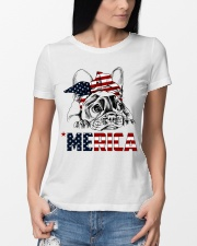 Frenchie Dog USA Flag Headband Gift Premium Fit Ladies Tee lifestyle-women-crewneck-front-10
