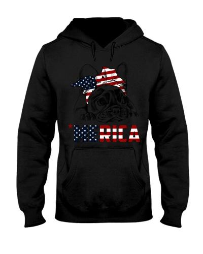 Frenchie Dog USA Flag Headband Gift