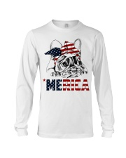 Frenchie Dog USA Flag Headband Gift Long Sleeve Tee thumbnail