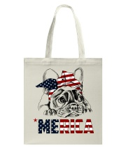 Frenchie Dog USA Flag Headband Gift Tote Bag thumbnail