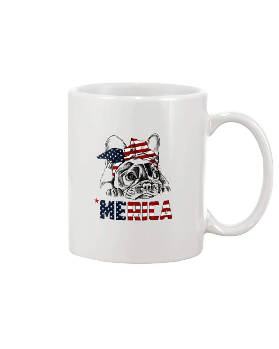 Frenchie Dog USA Flag Headband Gift Mug