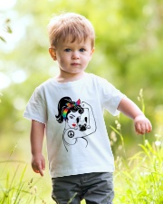 Frenchie With Hippie Woman Youth T-Shirt lifestyle-youth-tshirt-front-5