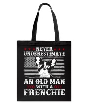 Old Man With French Bulldog American Flag Shirt Tote Bag thumbnail