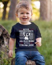 Old Man With French Bulldog American Flag Shirt Youth T-Shirt lifestyle-youth-tshirt-front-4