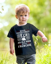 Old Man With French Bulldog American Flag Shirt Youth T-Shirt lifestyle-youth-tshirt-front-5
