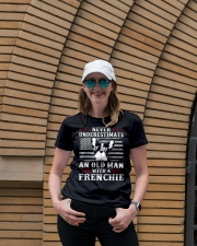 Old Man With French Bulldog American Flag Shirt Premium Fit Ladies Tee lifestyle-women-crewneck-front-4