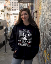 Old Man With French Bulldog American Flag Shirt Hooded Sweatshirt lifestyle-unisex-hoodie-front-1