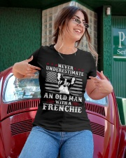 Old Man With French Bulldog American Flag Shirt Ladies T-Shirt apparel-ladies-t-shirt-lifestyle-01