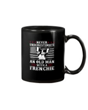 Old Man With French Bulldog American Flag Shirt Mug tile