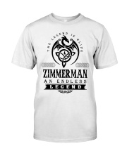 Life Begins In ZIMMERMAN Classic T-Shirt front