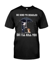 Kind To Beagles Classic T-Shirt front