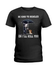 Kind To Beagles Ladies T-Shirt tile