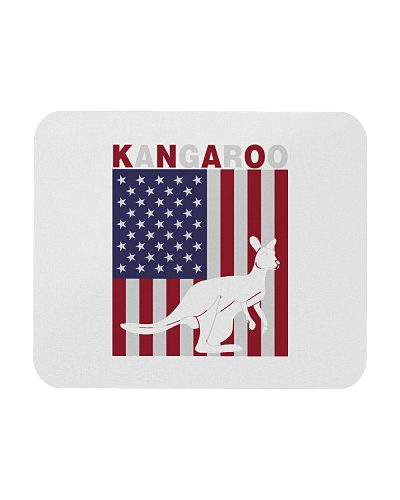 Kangaroo - American kangaroo flag - 4th july