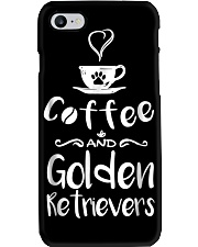 Coffee And Golden Retrievers Shirt Gift Phone Case thumbnail