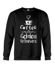 Coffee And Golden Retrievers Shirt Gift Crewneck Sweatshirt thumbnail