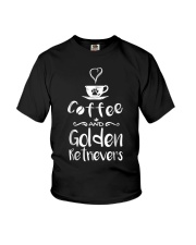 Coffee And Golden Retrievers Shirt Gift Youth T-Shirt thumbnail