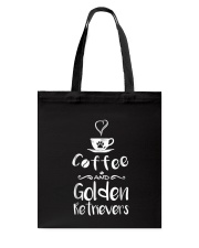 Coffee And Golden Retrievers Shirt Gift Tote Bag thumbnail