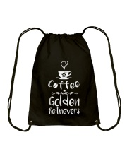 Coffee And Golden Retrievers Shirt Gift Drawstring Bag thumbnail