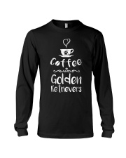 Coffee And Golden Retrievers Shirt Gift Long Sleeve Tee thumbnail