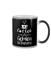 Coffee And Golden Retrievers Shirt Gift Color Changing Mug thumbnail