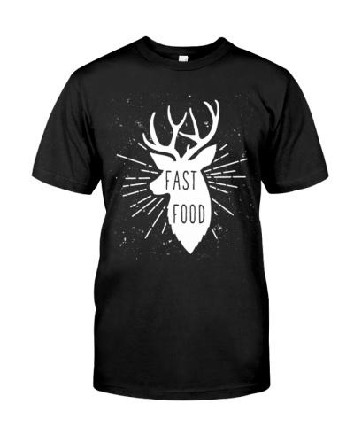 Fast food deer -  Premium T-Shirt