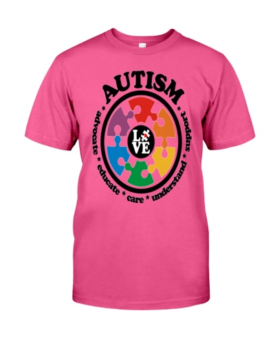 LOVE Autism Awareness -  V-Neck T-Shirt