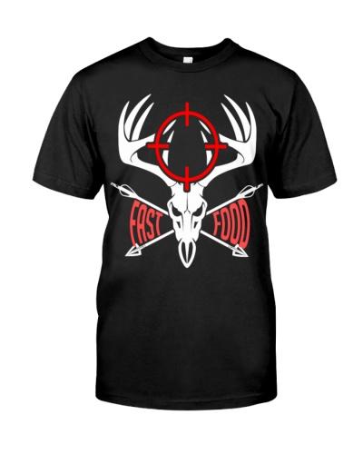 Fast Food T Shirt Funny Gift For Hunters Deer Hunt