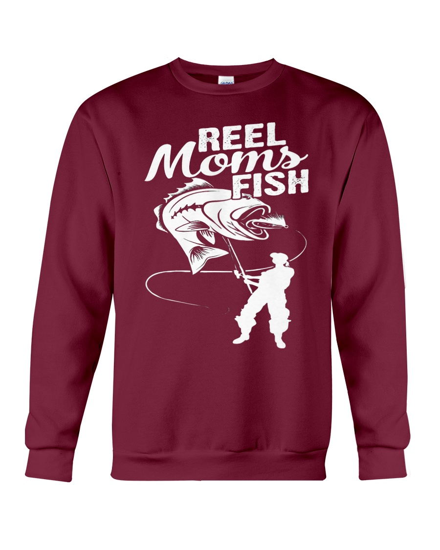 reel moms fish Crewneck Sweatshirt