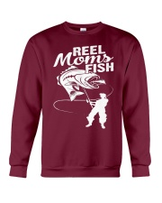 reel moms fish Crewneck Sweatshirt front
