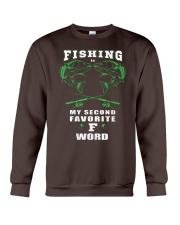 fishing word Crewneck Sweatshirt front