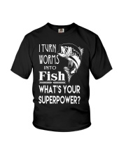 i turn worms into fish what's your superpower Youth T-Shirt thumbnail