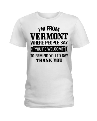I'M FROM VERMONT