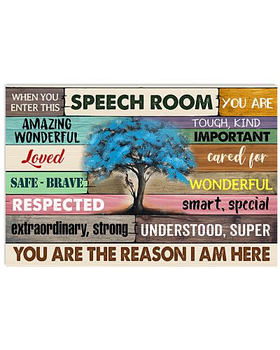 WHEN YOU ENTER THIS SPEECH ROOM POSTER